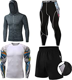 Men's Sports Running Set Men's Casual Tracksuit ,Skiing Winter Warm Base Layers Short Sleeve Base Layers T Shirts Quality ...