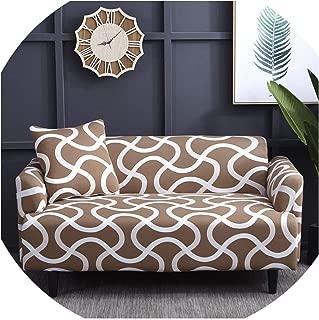 pan house Slipcover Non-Slip Elastic Sofa Covers Polyester Four Season All-Inclusive Stretch Sofa Cushion Sofa Towel 1/2/3/4-seater,Color 9,4 Seater 235-300CM