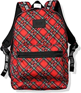 Victoria`s Secret Pink Campus Backpack, Red Plaid