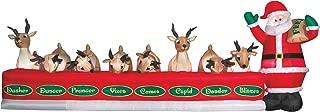 inflatable reindeer eating
