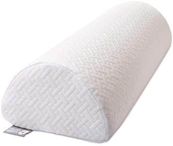 Half Moon Bolster Semi-Roll Pillow - Ankle and Knee Support - Leg Elevation - Back, Lumbar, Neck Pain Relief - Pad fo...