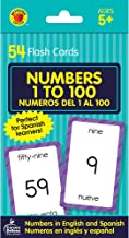 Carson Dellosa | Numbers 1–100 Bilingual Flash Cards | English and Spanish, Ages 5+, 54ct