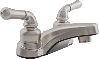 Dura Faucet DF-PL700C-SN RV Bathroom Faucet with Classical Handles (Brushed Satin Nickel)