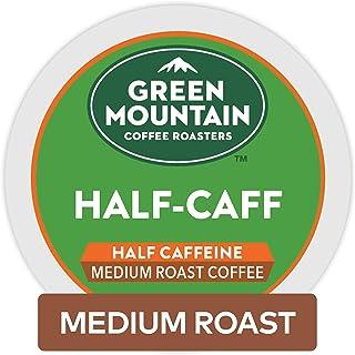 Green Mountain Coffee Roasters Half Caff, Single-Serve Keurig K-Cup Pods, Medium Roast..