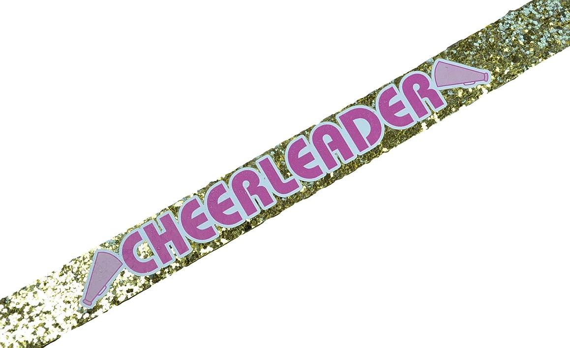 バイアス食堂合併Funny Girl DesignsチアリーダーGlitter伸縮性ヘッドバンドのガールズと大人