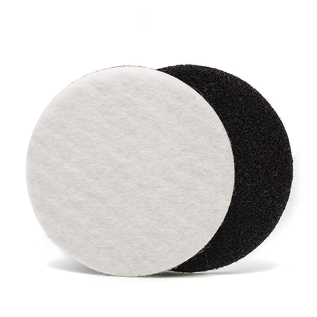 GP11006 Felt Polishing Pad Set for Polishing Glass, Plastic, Metal, Marble / Diameter 2 inch / Pack of 10 Pads