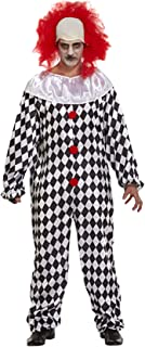 Adults Halloween Scary Clown Costume Mens Horror Fancy Dress Party Wear Outfit One Size