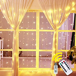Ollny Curtain Lights Fairy String Twinkle Lights 200 LED 6.6 Ft with 8 Lighting Modes..
