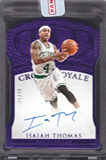 2015-16 Panini Preferred Autograph Purple #172 Isaiah Thomas Auto 26/49 Celtics