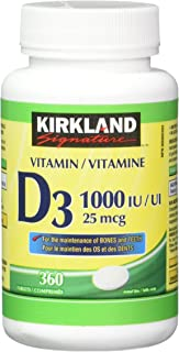 Kirkland Signature Vitamin D3 1000 IU, 360 Tablets