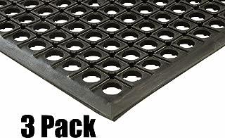 (3) Erie Tools 3x5 Rubber Drainage Floor Mat 36in. x 60in. Anti-Fatigue Anti-slip