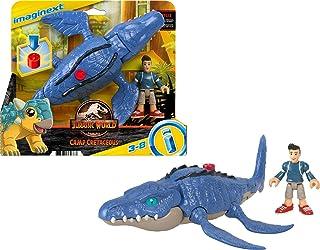 Fisher-Price Imaginext Jurassic World Camp Krijt Mosasaurus Dinosaurus en Kenji Figuur Set voor kleuters van 3-8 jaar