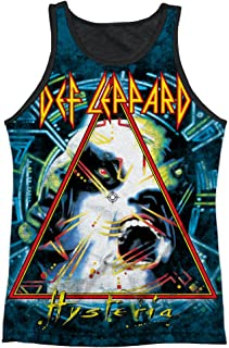 Def Leppard 80s Heavy Metal Band Hysteria Cover Adult Black Back Tank Top Shirt