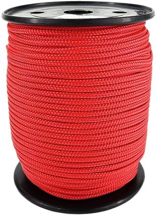 0100 Geflochten PP Seil Polypropylenseil SH 3mm 100m Farbe Wei/ß