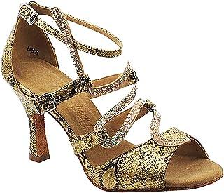 "Women`s Ballroom Dance Shoes Tango Wedding Salsa Shoes Sera7017EB Comfortable-Very Fine 2.5""[Bundle of 5]"