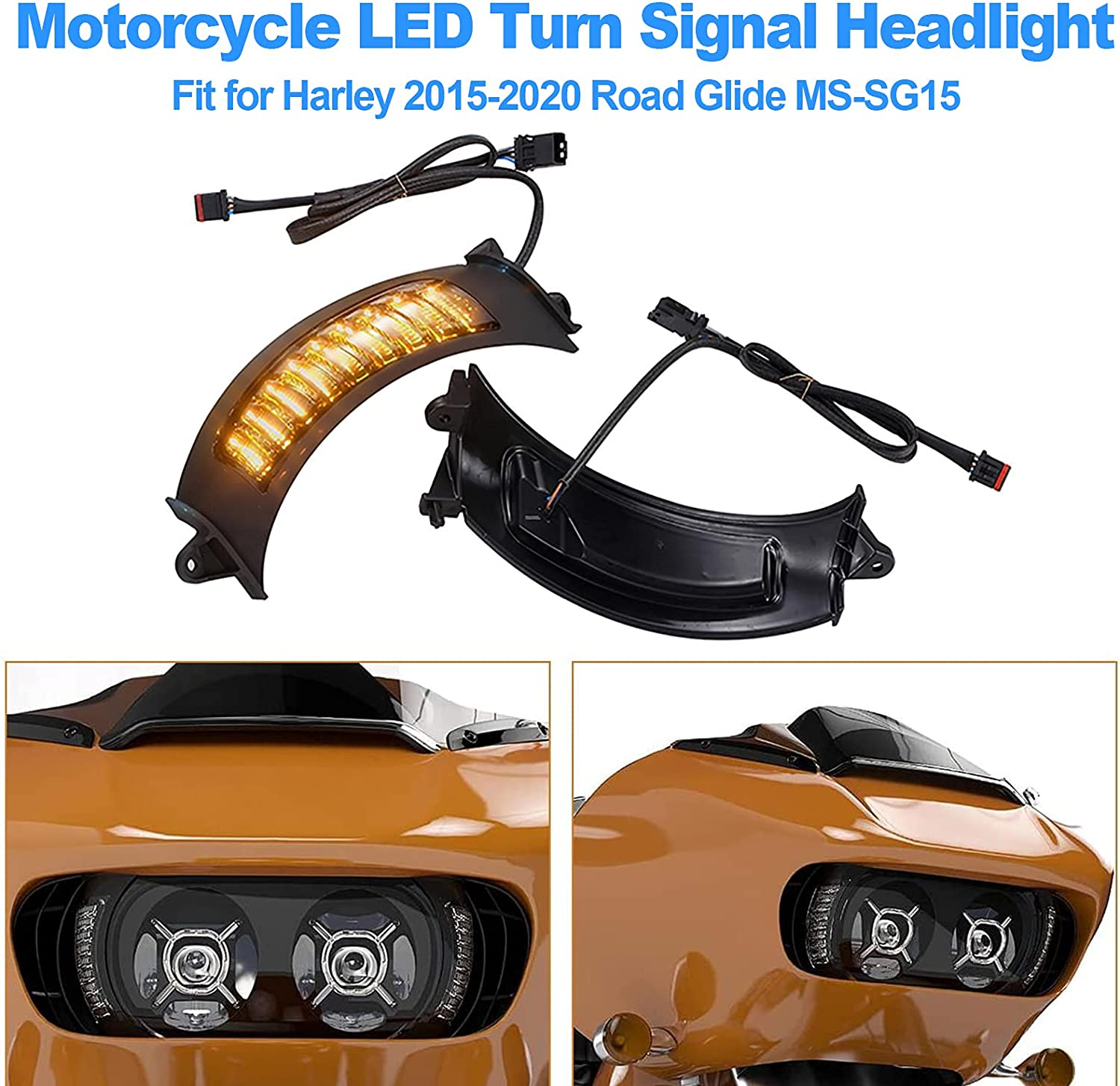 OXMART Turn Signal Light LED Motorcycle Driving Clearance SALE Limited Max 76% OFF time F Side Headlight