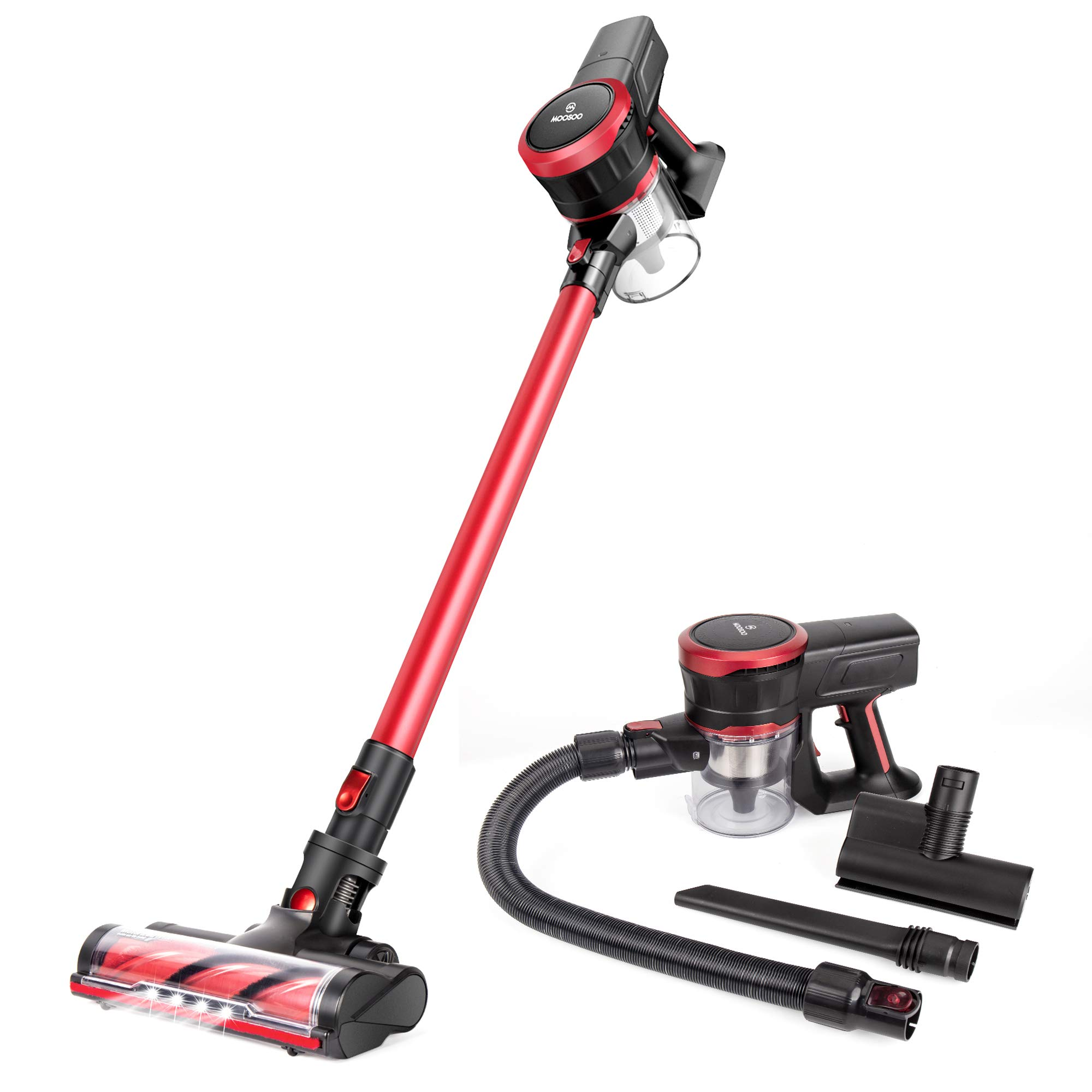 MOOSOO Cordless Ultra Quiet Brushless Multi attachments