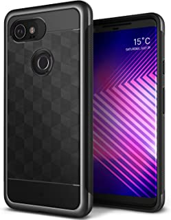 Caseology Parallax for Google Pixel 2 XL Case (2017) - Award Winning Design - Black