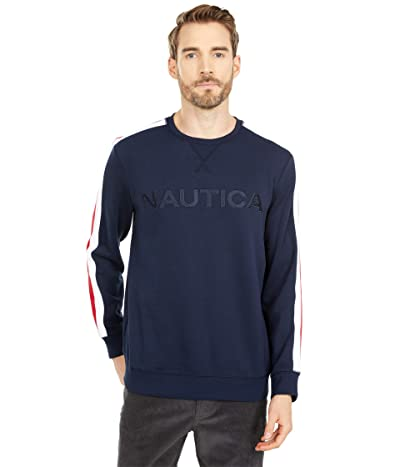 Nautica Logo Fleece Sweatshirt (Navy) Men
