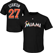 Outerstuff Giancarlo Stanton Miami Marlins #27 Black Youth 8-20 Name and Number T-Shirt
