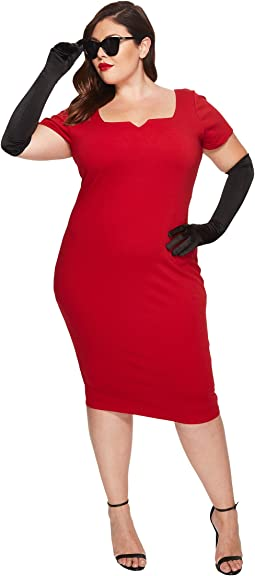 Unique Vintage - Plus Size Harris Knit Wiggle Dress