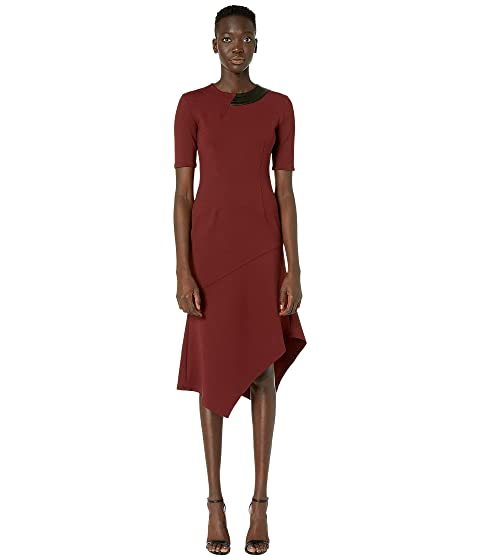 YIGAL AZROUËL Mechanical Stretch Drape Neck with Asymmetric Hem