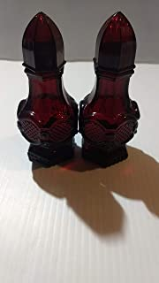 Vintage Avon Red Ruby Glass - The 1876 Cape Cod Collection - Salt & Pepper Shakers