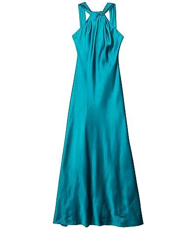 Calvin Klein Knot Neck Gown (Viridian) Women