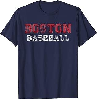 Boston Distressed Pro Baseball Team Championship T-Shirt