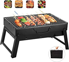 Barbecue Charcoal Grill Stainless Steel Folding Portable BBQ Tool Kits for Outdoor Cooking Camping Hiking Picnic Patio Smokers