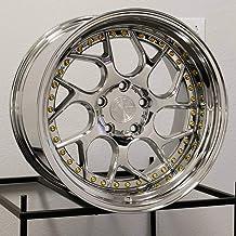 AodHan DS01 Wheel - Vacuum w/Gold Rivets: 18x9.5 Wheel Size; 5x114.3 Lug Pattern; 73.1mm Hug Bore; 15mm Off Set.