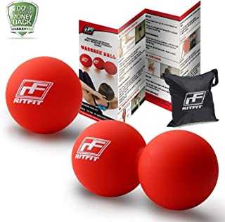 RMB/® 3er Set Massage-Ball mit Noppen f/ür Entspannung pur