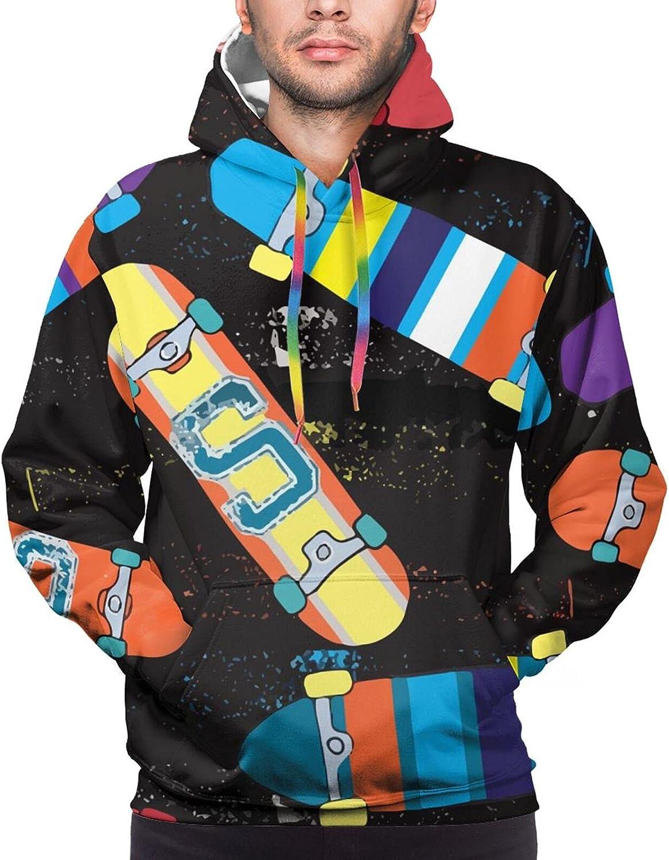 Hoodie For Teens Boys Girls Colorful Skateboard 3d Printed Hooded Sweatshirt