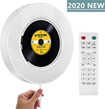 2020 Upgraded Portable CD Player with Bluetooth, FM Radio, Wall Mountable CD Music Player..