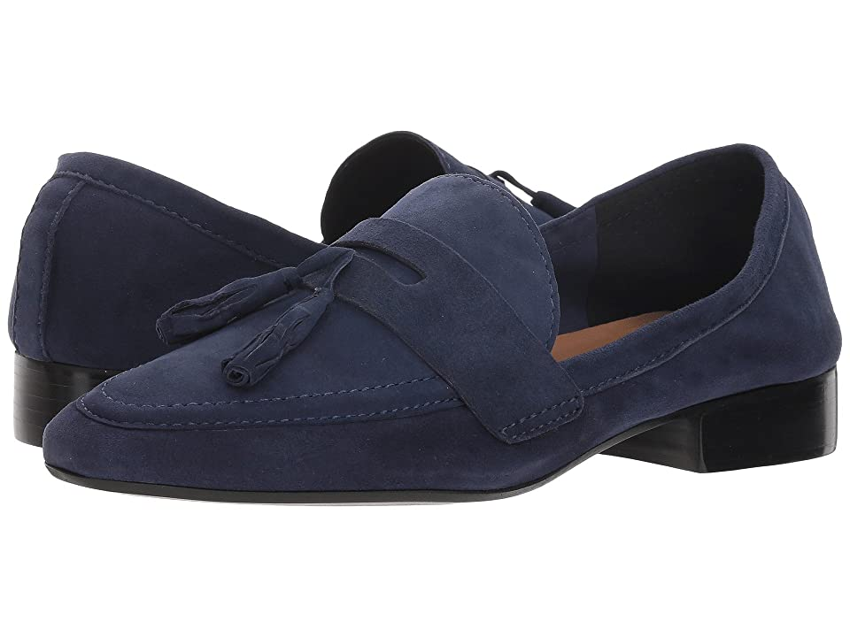 French Sole Chime Loafer (Navy Suede) Women
