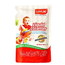 [Pantry] LuvLap Liquid Cleanser Refill, Anti-Bacterial, Food Grade, For Baby Bottles, Accessories and Vegetables, 1000ml