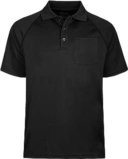 TIHEEN Men's Soft Wicking Lightweight Cool Polo Shirt Short Sleeves