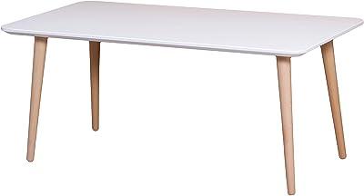 SoBuy Mesa de Centro para Salón,Mesa de Café, Blanco, L105xH40 cm,FBT61-W, ES: Amazon.es: Hogar