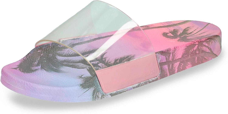 Slydes - SS18 Paradise Palm Women's Slider Sandals RRP  35