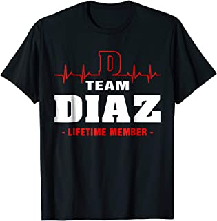Team Diaz lifetime member shirt surname, last name