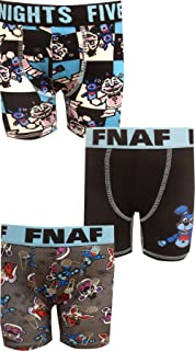 Bioworld Merchandising Boys' Five Nights at Freddy's Sister Location 3 Pack Boxer Briefs