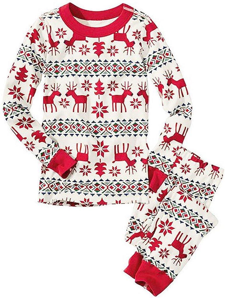 Pijamas Navidad Familia Conjunto Pantalon y Top Fiesta Manga Larga Trajes Navideños Pijama Dos Piezas Mujer Hombre Niños Niña Ropa de Dormir para ...