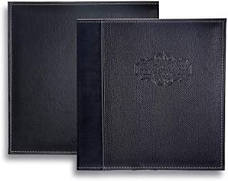 Photo Album Self Adhesive Scrapbook - Premium Leather Cover Double-Side Page Albums Hold Vertical and Horizontal Photos for 4x6, 5x7,6x8,8x10,etc (Black)