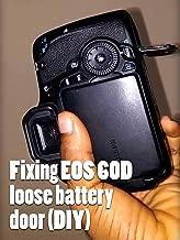 Clip: Fixing EOS 60D loose battery door (DIY)