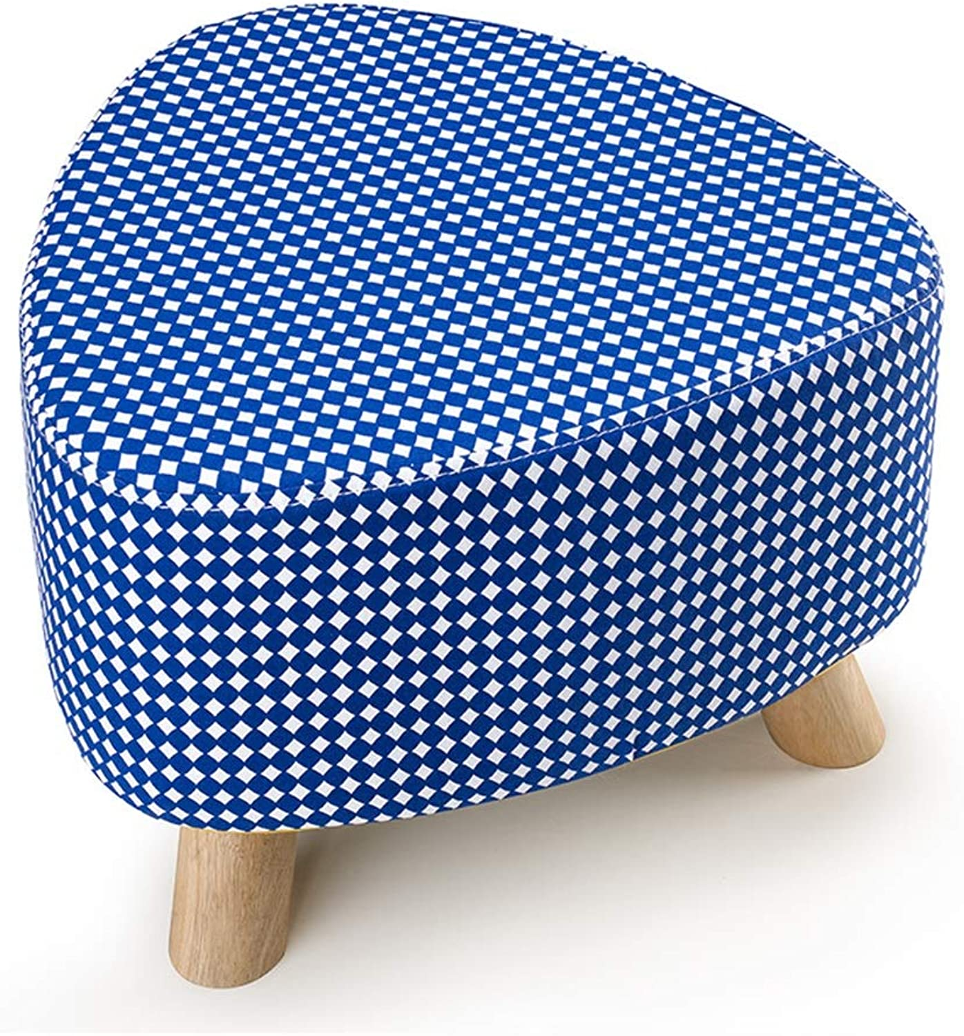 SUNNY Solid Wood Change shoes Bench Detachable Fabric Sofa Stool Colourful Modern Three Feet Small Stool (color   C5)