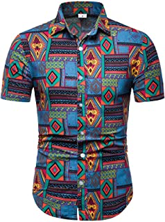 Lapel Printing Short Sleeve Shirt Men's New Pattern Casual Fashion Printing Tops