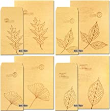 Acekit A4 Size Vintage Stationery Paper and Envelope 4 Antique Style Paper Perfect for Writing Letters,Poems, Lyrics and Invitations 8.26 x 11.2 Inches (Leaf II)