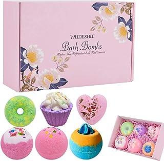 YA MI 6-Piece Bath Bomb Gift Set: Rose, Orange Craze, Strawberry, Cake, Doughnut, Heart Shape,Beauty Gift for Women