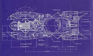HandTao Blueprint - Batman 1989 Batmobile top View Artwork Living Room Home Decor Decorations Poster 40