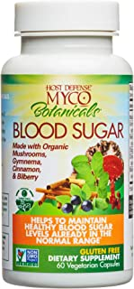 Host Defense, MycoBotanicals Blood Sugar, Maintaining Blood Sugar Levels Already Within Normal Range, Daily Mushrooms and ...